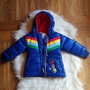 Hannah Anderson rainbow down puffer jacket